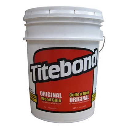 Titebond Original 19lt - Aliphatic PVA Wood Glue - Cream colour - Dries cream