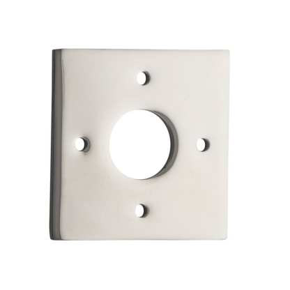 Tradco 0248 Adaptor Plate Pair Square Rose Polished Nickel H60xW60mm 1