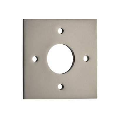 Tradco 0249 Adaptor Plate Pair Square Rose Satin Nickel H60xW60mm 1