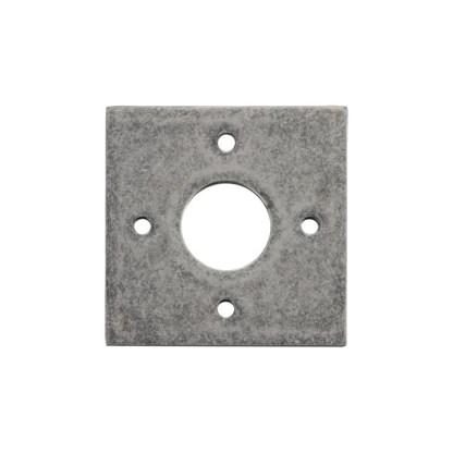 Tradco 0247 Adaptor Plate Pair Square Rose Rumbled Nickel H60xW60mm 1