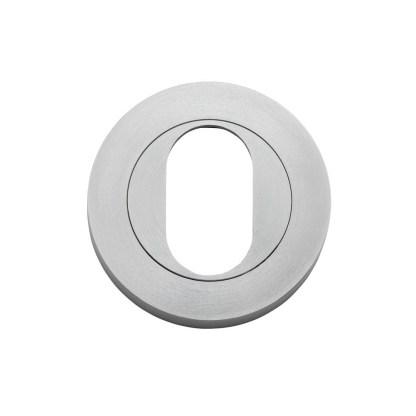 Tradco 20065 - Escutcheon Oval Satin Chrome. Sold as a pair 1