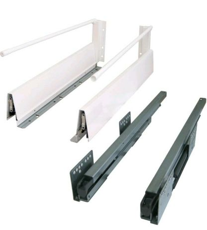 Alto Soft Close Drawer Kit with a Wall and Rail height of 204mm. Lengths from 400mm to 500mm long. 1