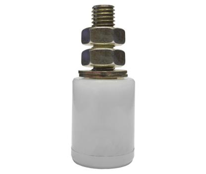 Sliding Gate Guide Roller in White  40 X 60mm x M16 1
