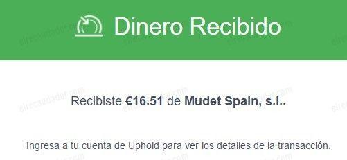 Segundo pago de Mudet