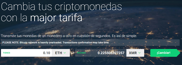 changelly intercambiar criptomonedas