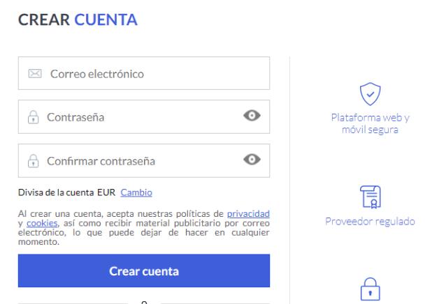 Cómo crear una cuenta en Markets.com