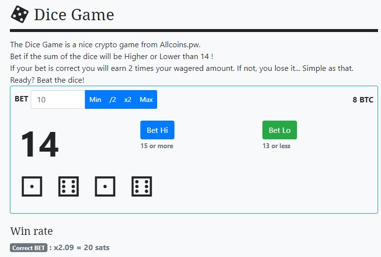 Allcoins juegos de apuestas