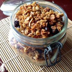 Receta de granola casera de almendras