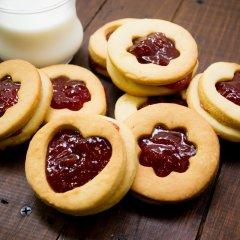 Receta de galletas rellenas de mermelada