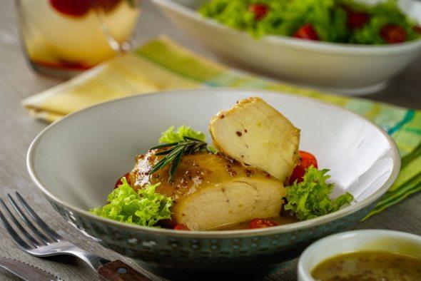 Receta de pechuga de pollo con salsa de mostaza y miel