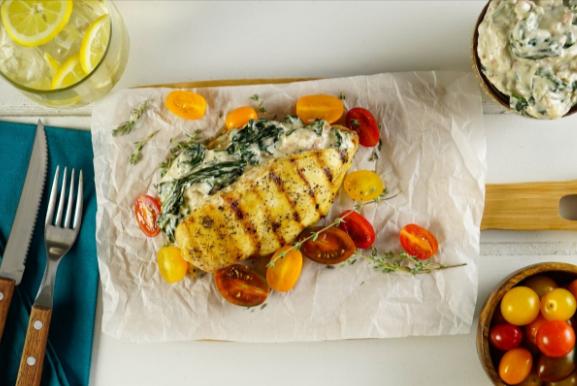 Receta de pollo con espinacas a la crema