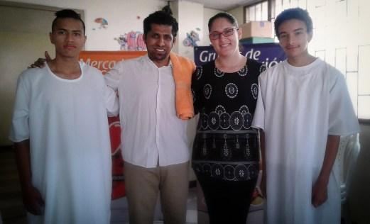 Johan Davis, Pastor David López, Andrea Puerto y Luis David.