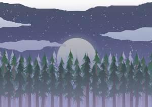 Ilustración 06: Paisaje nocturno.