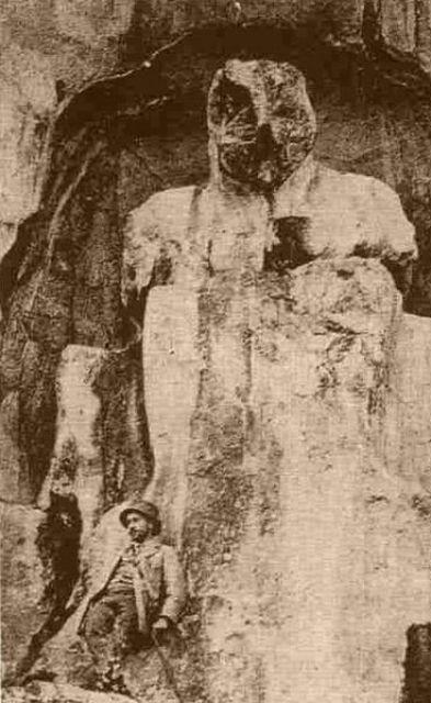 Posible representación de Cibeles en el monte Sipilo