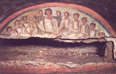 """Jesús con sus Apóstoles"""" Cementerio de Vía Anapo."""