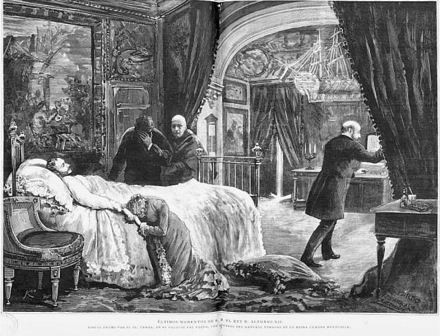 Alfonso XII falleció el 25 de noviembre de 1885