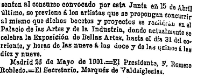 Gaceta de Madrid, 28 mayo de 1901