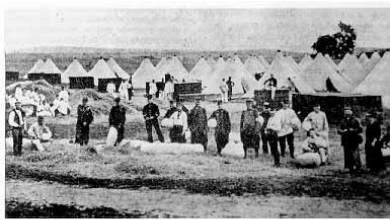 Primera Guerra Mundial. Voluntarios vascos y catalanes en el campo militar de Valbonne