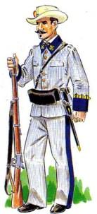 Recreación del Soldado típico Infante de Marina durante la guerra de Cuba (1864)
