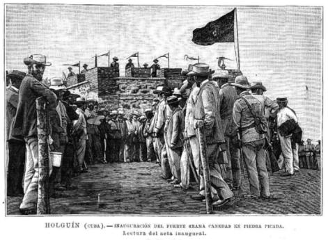 Inauguración del Fuerte en Holguín (La ilustración Española y Americana, 1896)