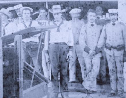 Marineros e Infantes de Marina rumbo a Cuba (1884)