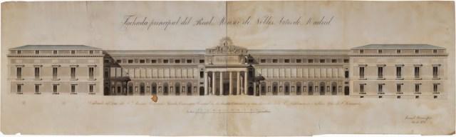 Nueva Distribución escultórica de la fachada principal del Museo. Manuel Hermoso 1831