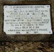 Placa dedicada al soldado Rama (foto: La Voz de Galicia)