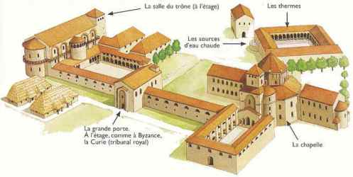 Reconstrucción del Palacio proyectado por Eudes de Metz