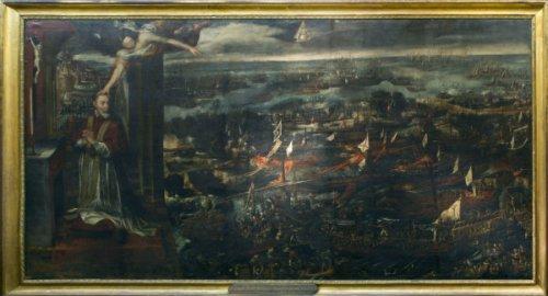 Visión del Papa Pío V de la victoria de Lepanto. Museo Naval de Madrid.