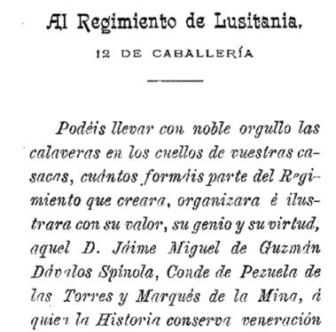 """Extracto de """"Lusitania, resumen de su historia"""" de 1903"""