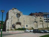 Ruinas del monasterio de San Francisco de Burgos en la actualidad.