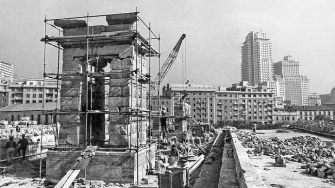 Imagen de la reconstrucción del templo en la Montaña del Príncipe Pío [ABC]