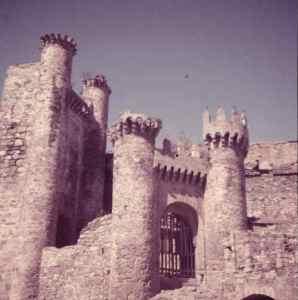 Castillo de Ponferrada 1950 [Archivo Villena]
