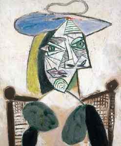 """Femme au chapeau assise"" (Mujer sentada con sombrero), 21 de mayo de 1939.- P. Picasso"