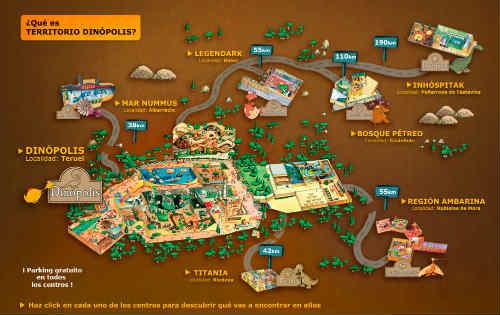 """Mapa del """"Territorio Dinopolis"""""""