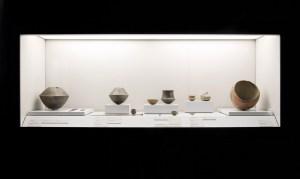 Vitrina de la Planta Baja del Museo Arqueológico de Murcia