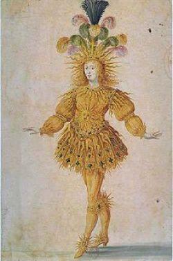 Luis XIV representa a Apolo en un baile.