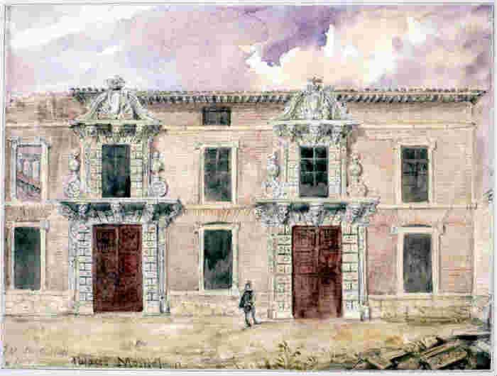 Palacio de Monteleón. Valentín Carderera, 1850 (Fundación Lázaro Galdiano).