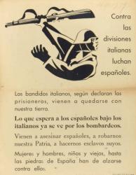 """""""Contra las divisiones italianas luchan españoles."""" Fecha 1939? (BNE)"""