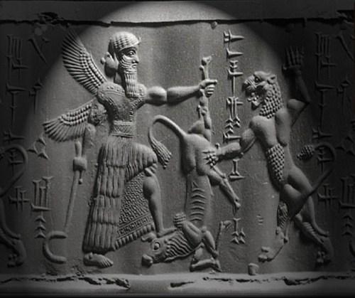 Gilgamesh y Enkidu matan al Toro del Cielo
