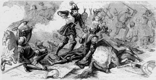 Un soldado de infantería, el vasco Juan de Urbieta, hacía preso a Francisco I, sin saber de quién se trataba.