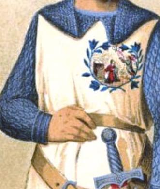 Caballero de la Orden de los Lirios (detalle divisa)