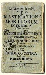 De Masticatione Mortuorum in Tumulis