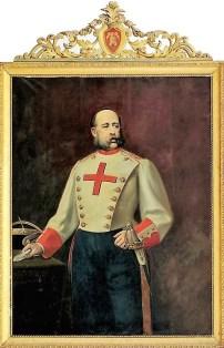 VIII Conde de Parcent, con la primera divisa.