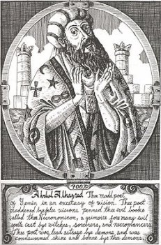 Ilustración del Autor del Necronomicon