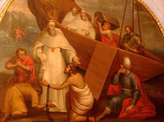 Mercedario liberando prisioneros cristianos