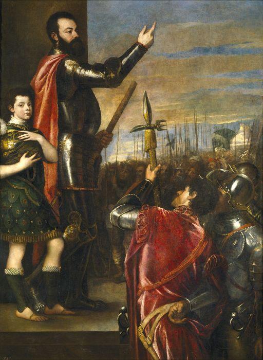 Alfonso de Ávalos, II Marqués del Vasto, (Ticiano)