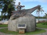 Jefe Gadao, uno de los míticos jefes chamorros e imagen de lo que era un indígena en aquellos tiempos