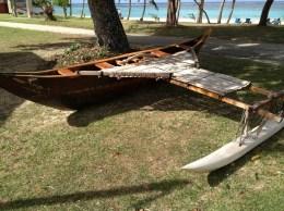 Reproducción de lo que debió ser la embarcación típica chamorra que se encontró Magallanes