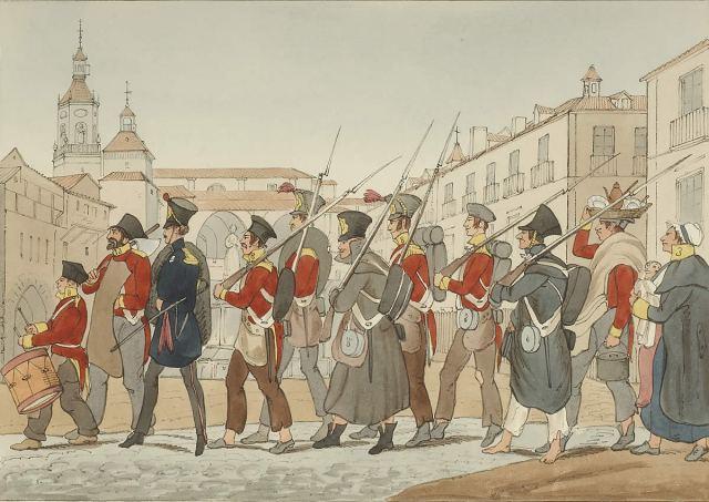 La Legión Auxiliar Británica en Vitoria, ya comenzada la guerra.